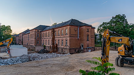 The former mental asylum Heil- und Pflegeanstalt, HuPfla, in Erlangen